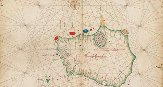 The oldest map of Ireland without Britain   Indescribable ...