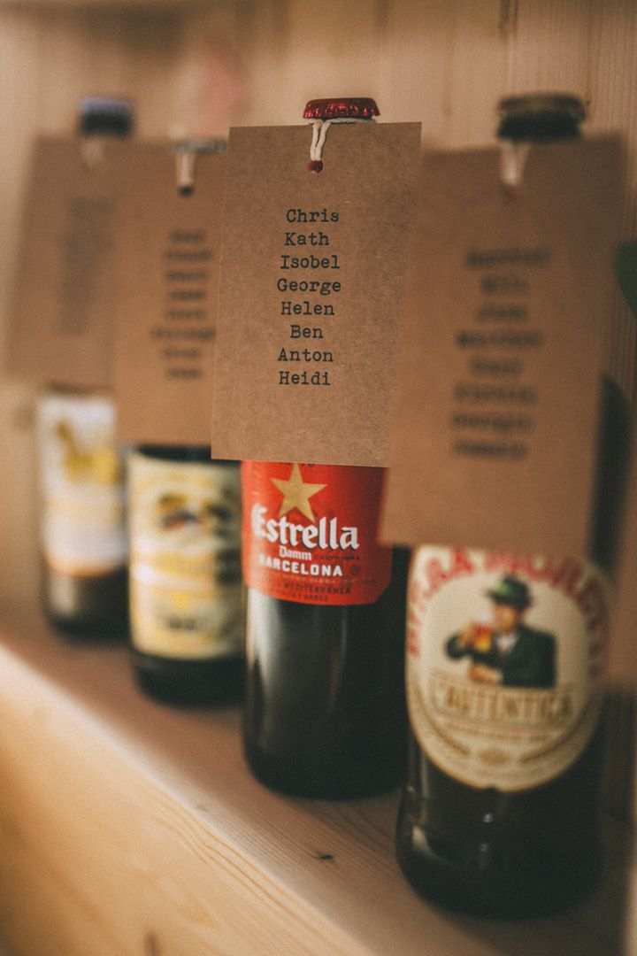 lagers and pale ales bottles for the table plan | fabmood.com #wedding #tableplan #escortcard #weddingideas #diywedding