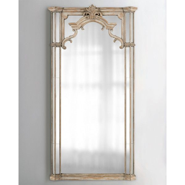 John-Richard Collection Estate Mirror (77.113.030 VND) ❤ liked on Polyvore featuring home, home decor, mirrors, beige, antique white mirror, wood mirror, john richard mirrors, wooden mirror and bone mirror