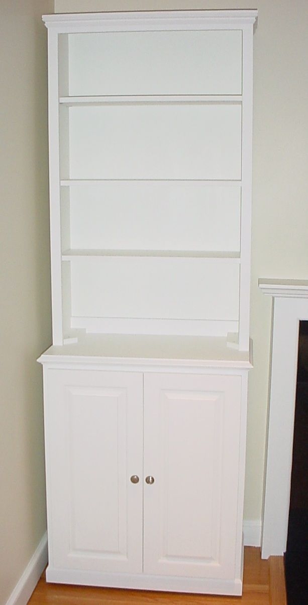 White Cabinets Bookcase Cabinet With Doors