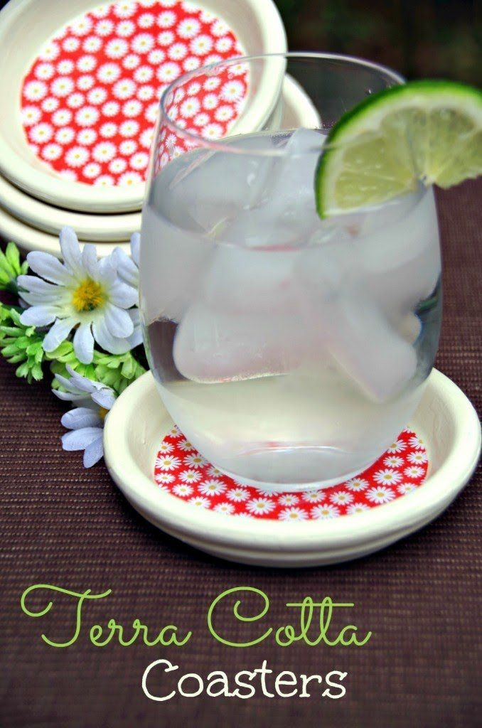 Looking for a spring craft? Make DIY terra cotta coasters