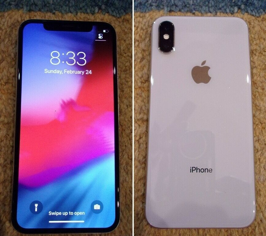 Excellent Apple Iphone X 64gb Silver Unlocked A1901 Gsm