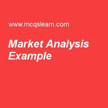 Market Analysis Example  Financial Management    Net