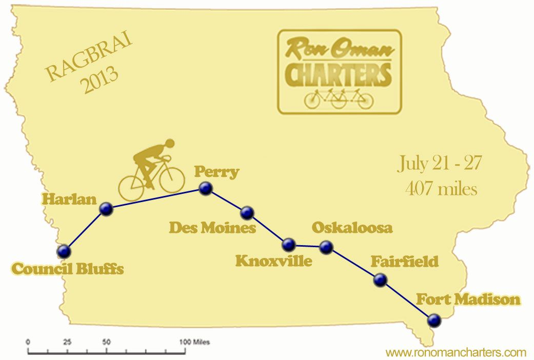 Ragbrai 2013 Map Ragbrai 2013 Route Eat Ride Repeat All About