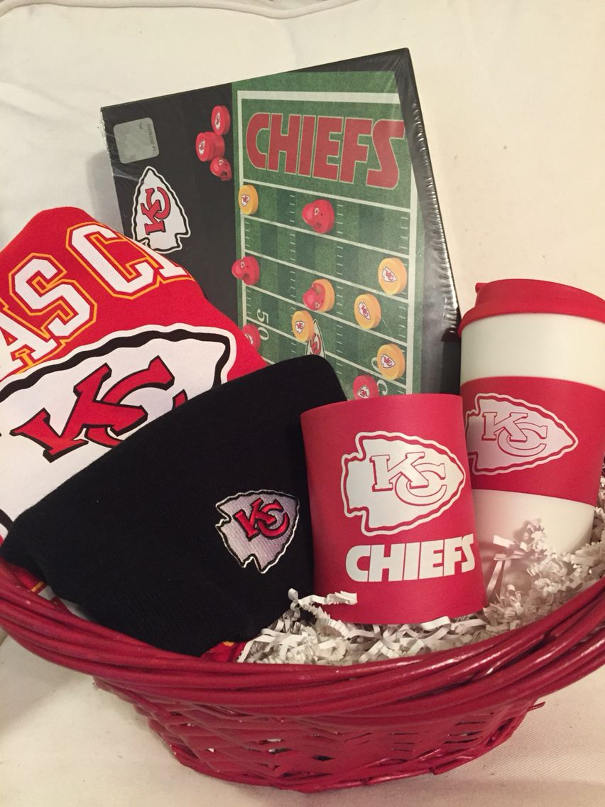 Kansas City Chiefs Gift Basket Kc Chiefs Gifts Kansas City Chiefs Gifts Chief Gift