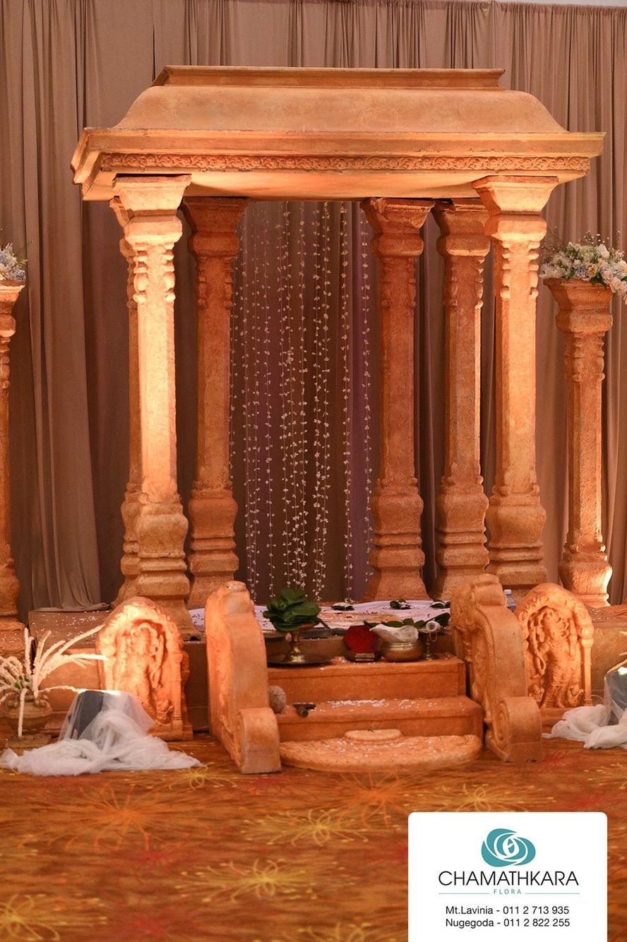 Orange traditional wedding decor  Pin by Hiru Bagiya on Traditional Wedding Decors  Pinterest