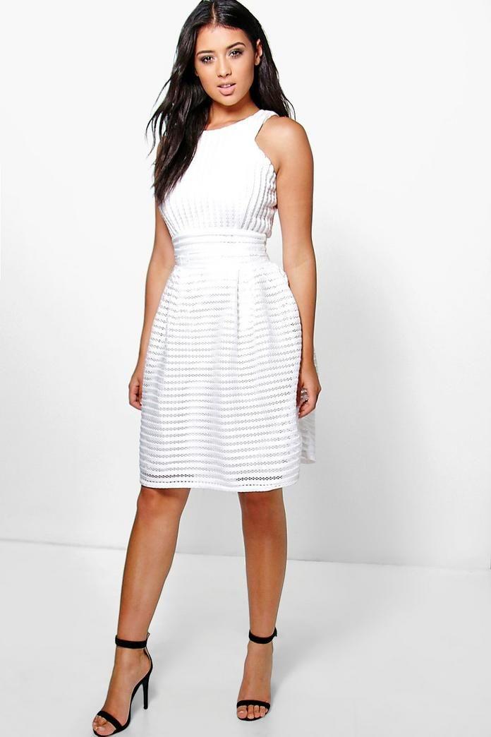 c29f7d8da3b09 Boutique Panelled Full Skirt Skater Dress   Fits!   Dresses, Skater ...