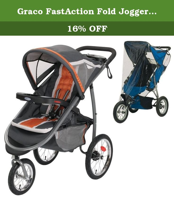 Graco Fastaction Fold Jogger Click Connect Stroller With Weather