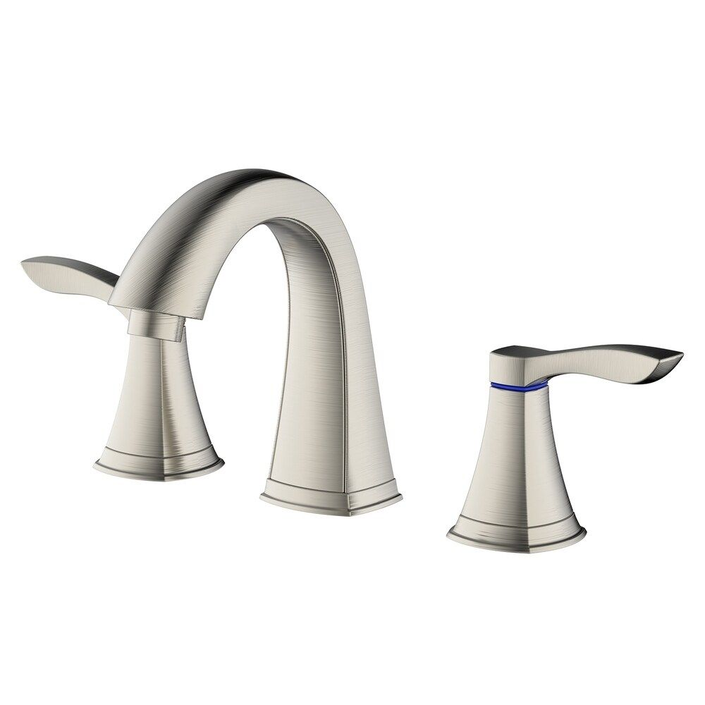 Photo of Innova faucet Moonstone bathroom fitting made of brushed nickel with easy-to-install QuikNut & Pop-Up Drain
