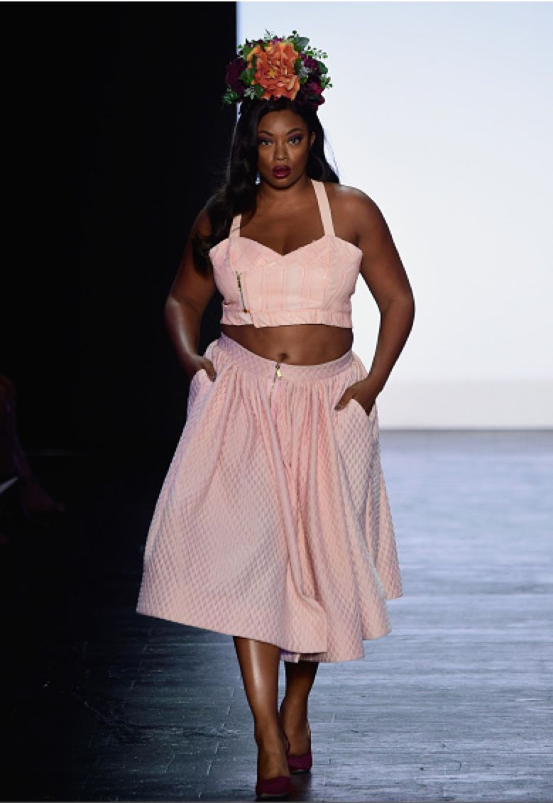 plus size models featured at the project runway finale show during