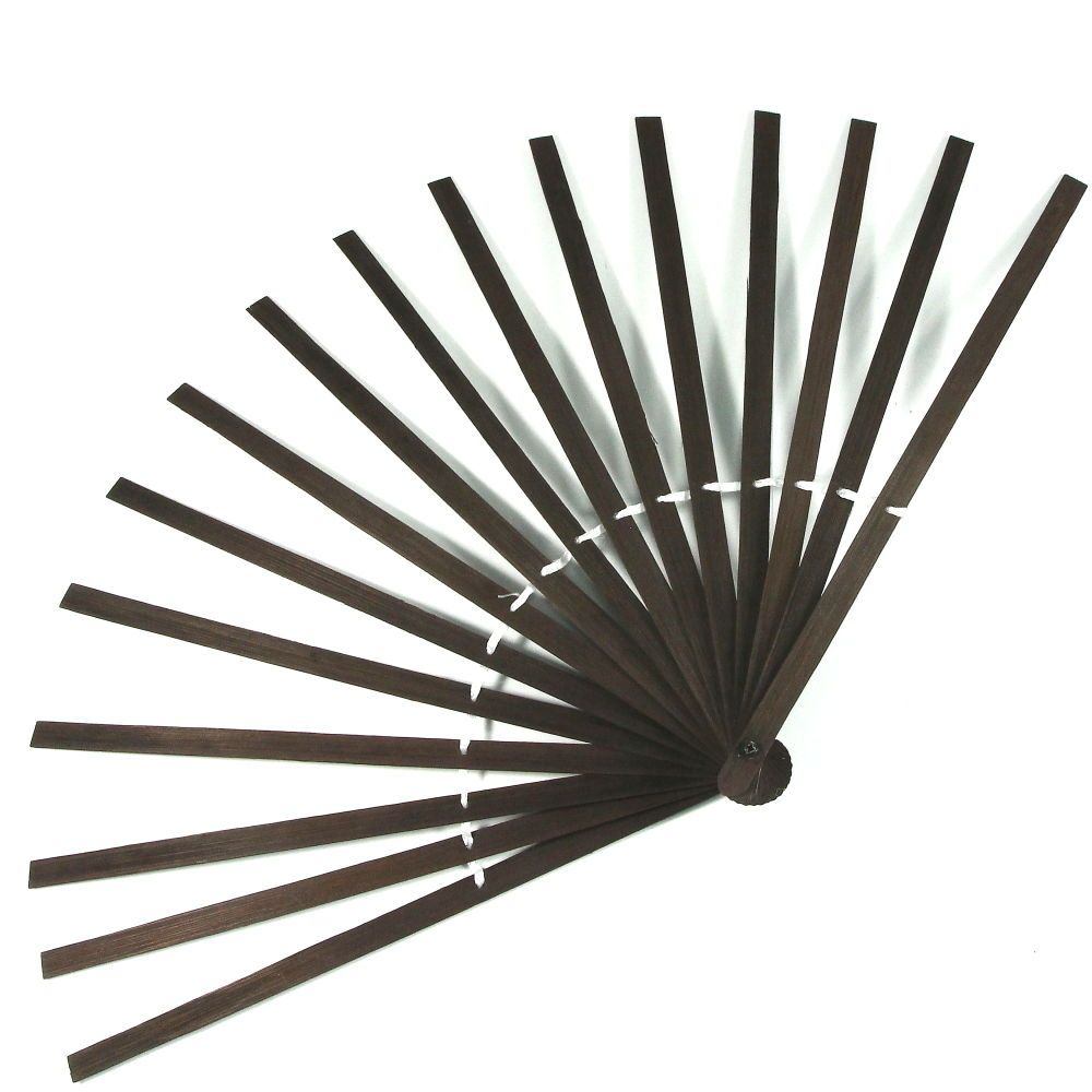 Bamboo feather fan base staves/frame/sally rand/show girl/carnival ...