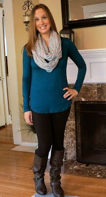 Great color & style.  Perfect for a casual outfit or dressing up. [Laila Jayde Emme Suede Neckline Knit Top Stitch Fix October 2015-pink rose mama]
