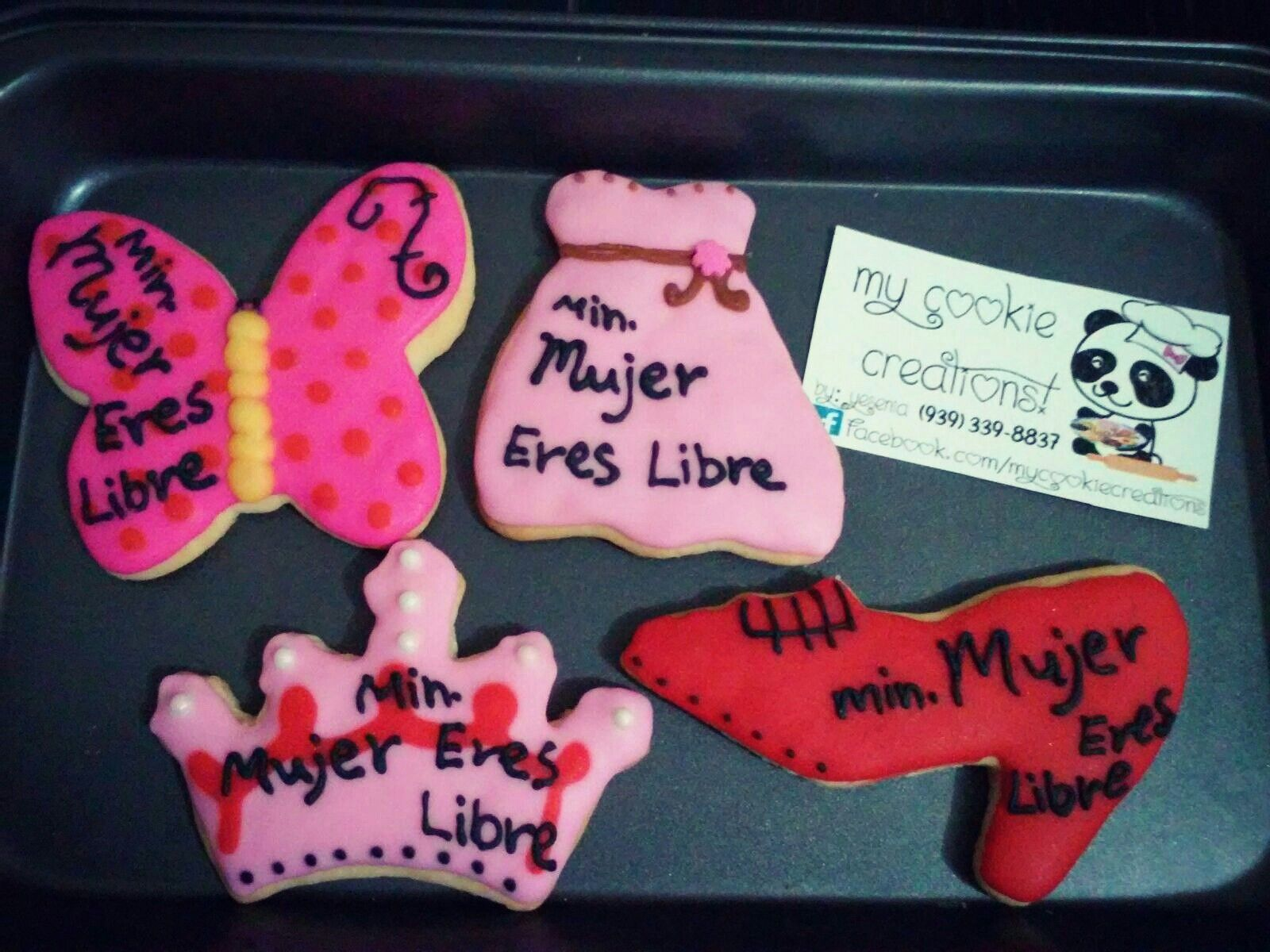"""Ordencita entregada el viernes 1 docena para el ministerio """"mujer eres libre"""" #mycookiecreations ❤🍪😍😋 #cookies #womanscookies"""