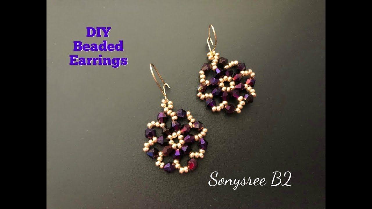 Diy Beaded Earrings Super Easy Tutorial Youtube Earring