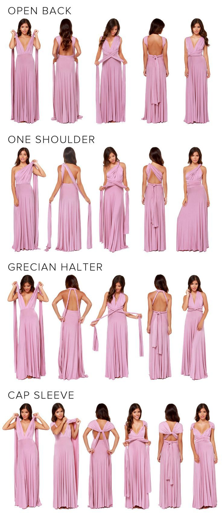 4 façons de porter cette robe | Costuras | Pinterest | Costura ...