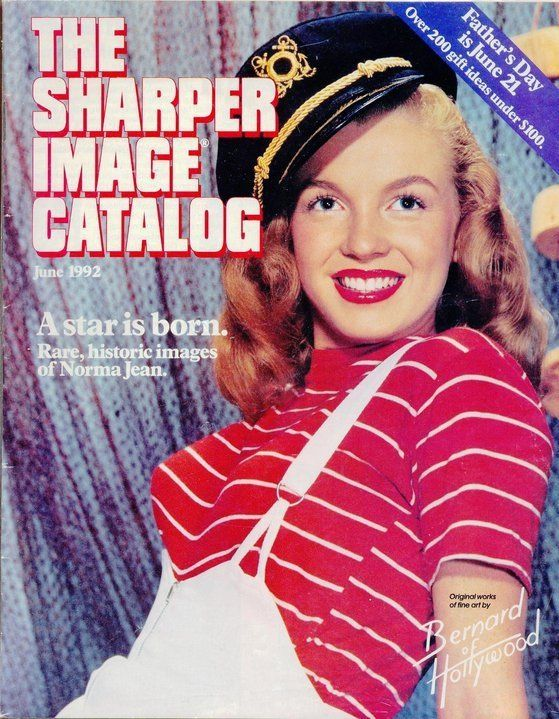 The Sharper Image Catalog - June 1992, magazine from USA. Front cover photo of Marilyn Monroe by Bruno Bernard (Bernard of Hollywood), 1945