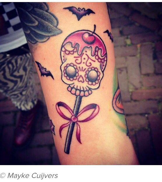 New School Girly Tattoos: Sugar Skull Tattoos, Halloween Tattoos