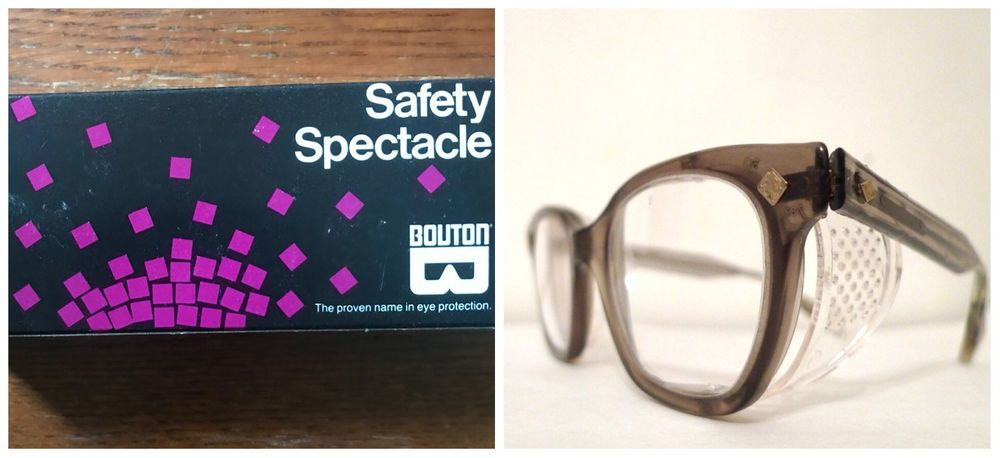 Sale! VINTAGE BOUTON SMOKE Gray SAFETY Spectacles Clear