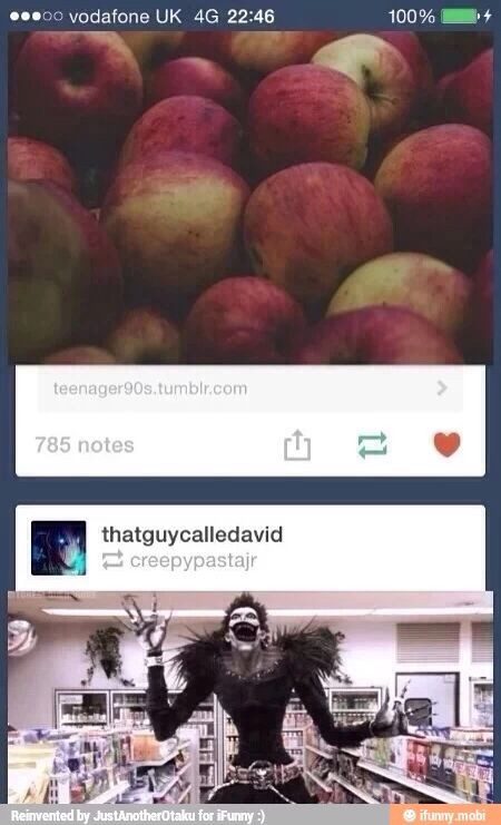 Ryuk loves apples