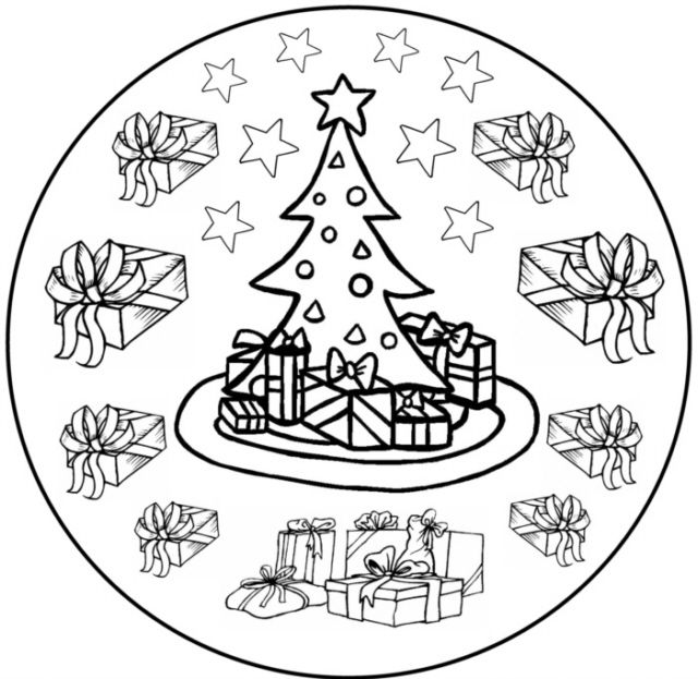 find this pin and more on christmas coloring by glavendeki - Christmas Mandalas Coloring Book