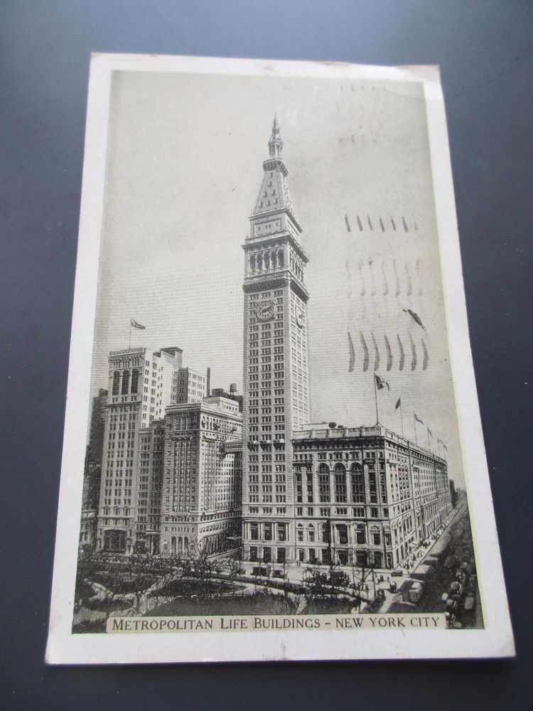 Vintage Metropolitan Life Buildings Postcard Ny City 1934 Life Insurance Letter Life Insurance Policy Life Insurance Premium Life Insurance Cost