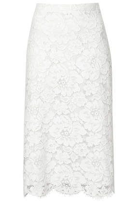 .Lace Pencil Skirt