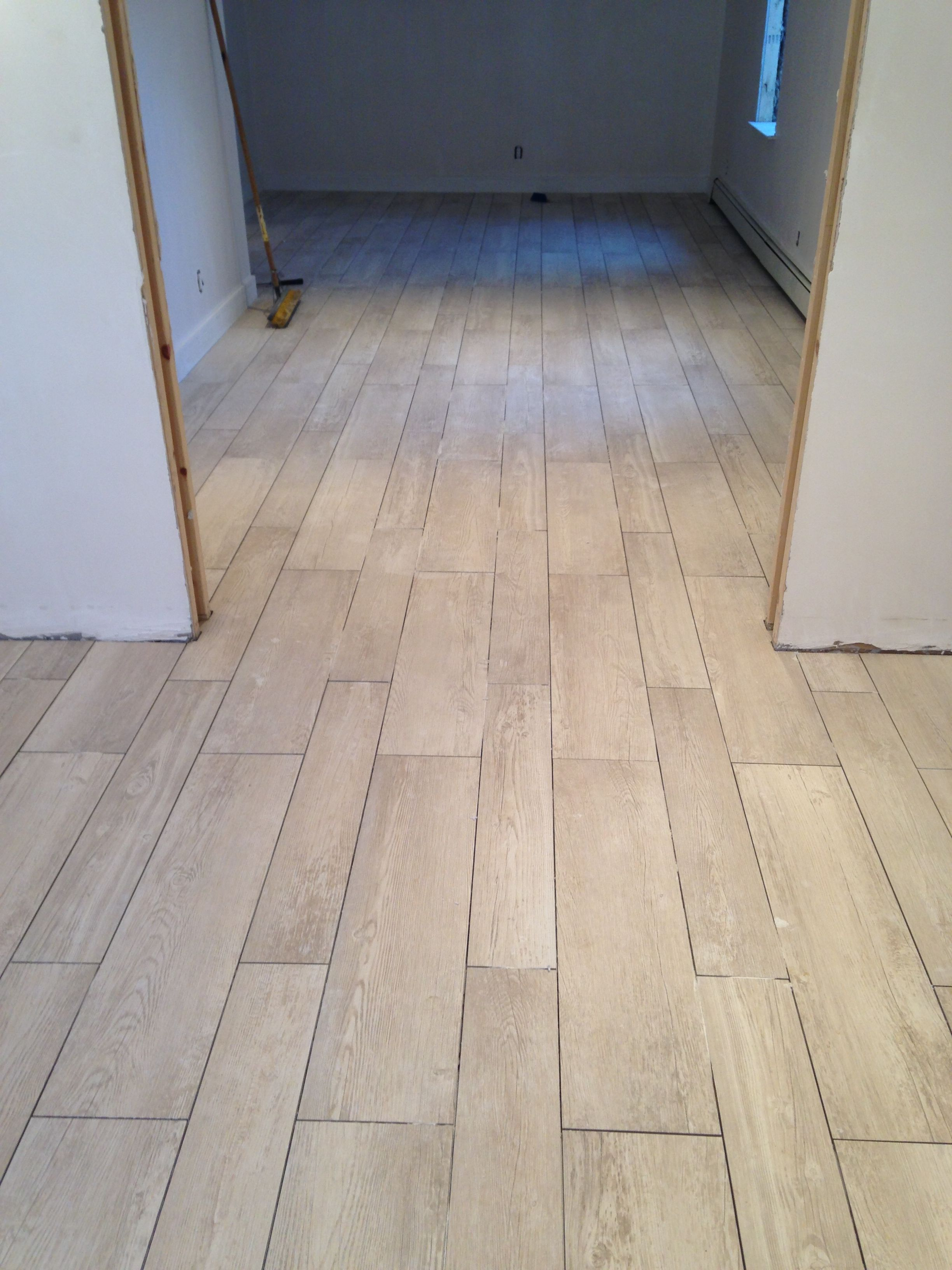 Hand Scraped Wood Look Tile Flooring