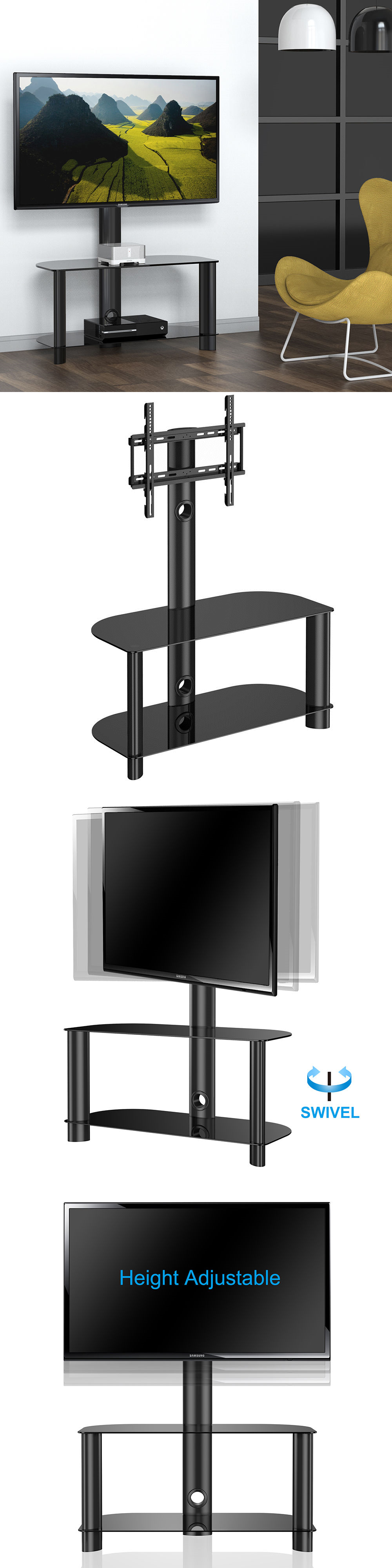 Entertainment Units TV Stands Tv Stand With Swivel Mount