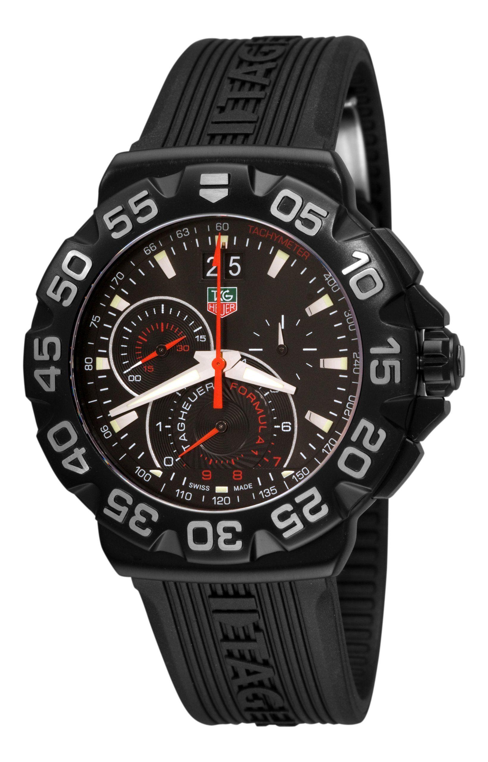 TAG Heuer Men's Formula 1 Chronograph Black Dial Watch
