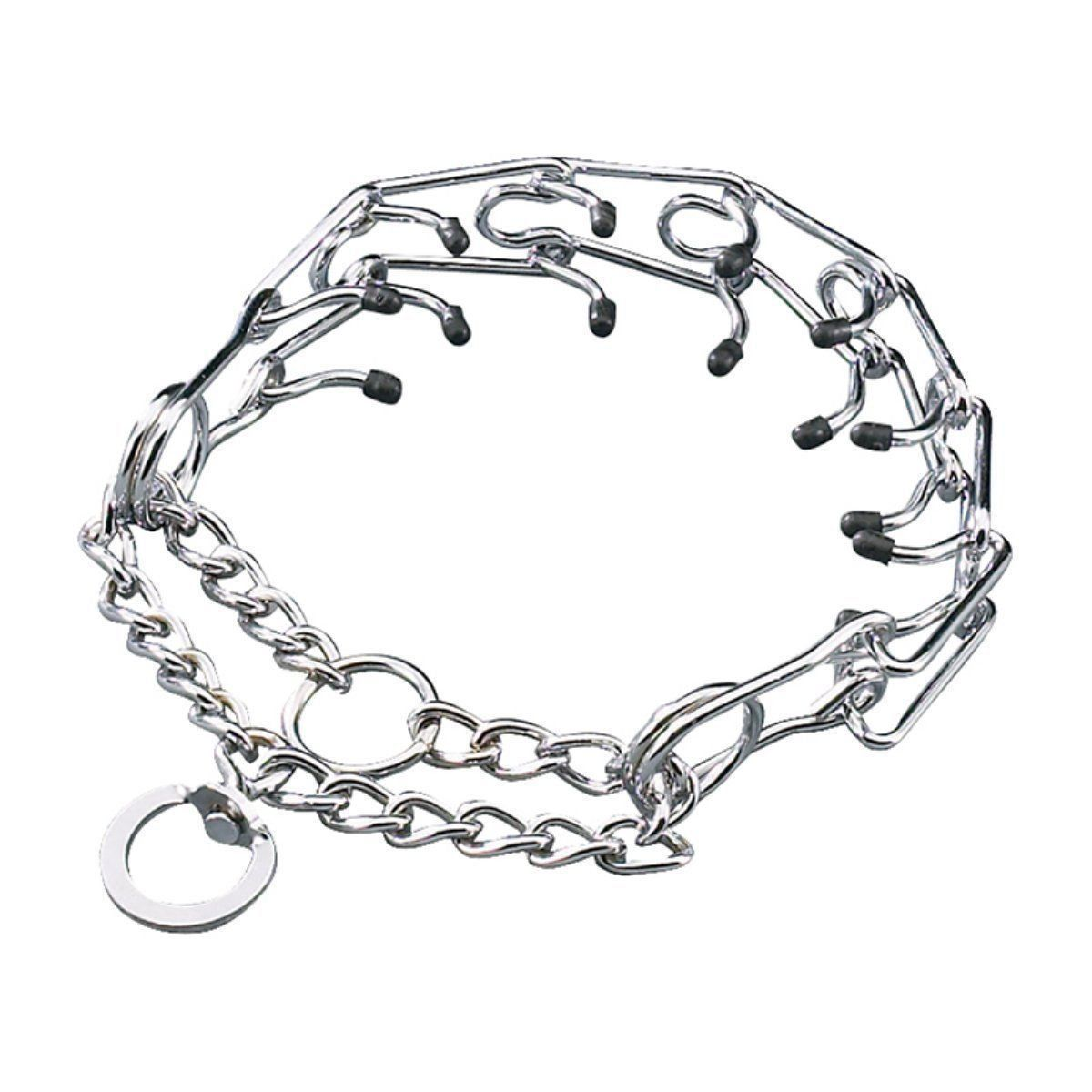 Pettom Gear Chrome Plated Steel Dog Prong Collar Want
