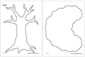 graphic relating to Tree Pattern Printable titled Printable tree templates, All those will be excellent for my apple