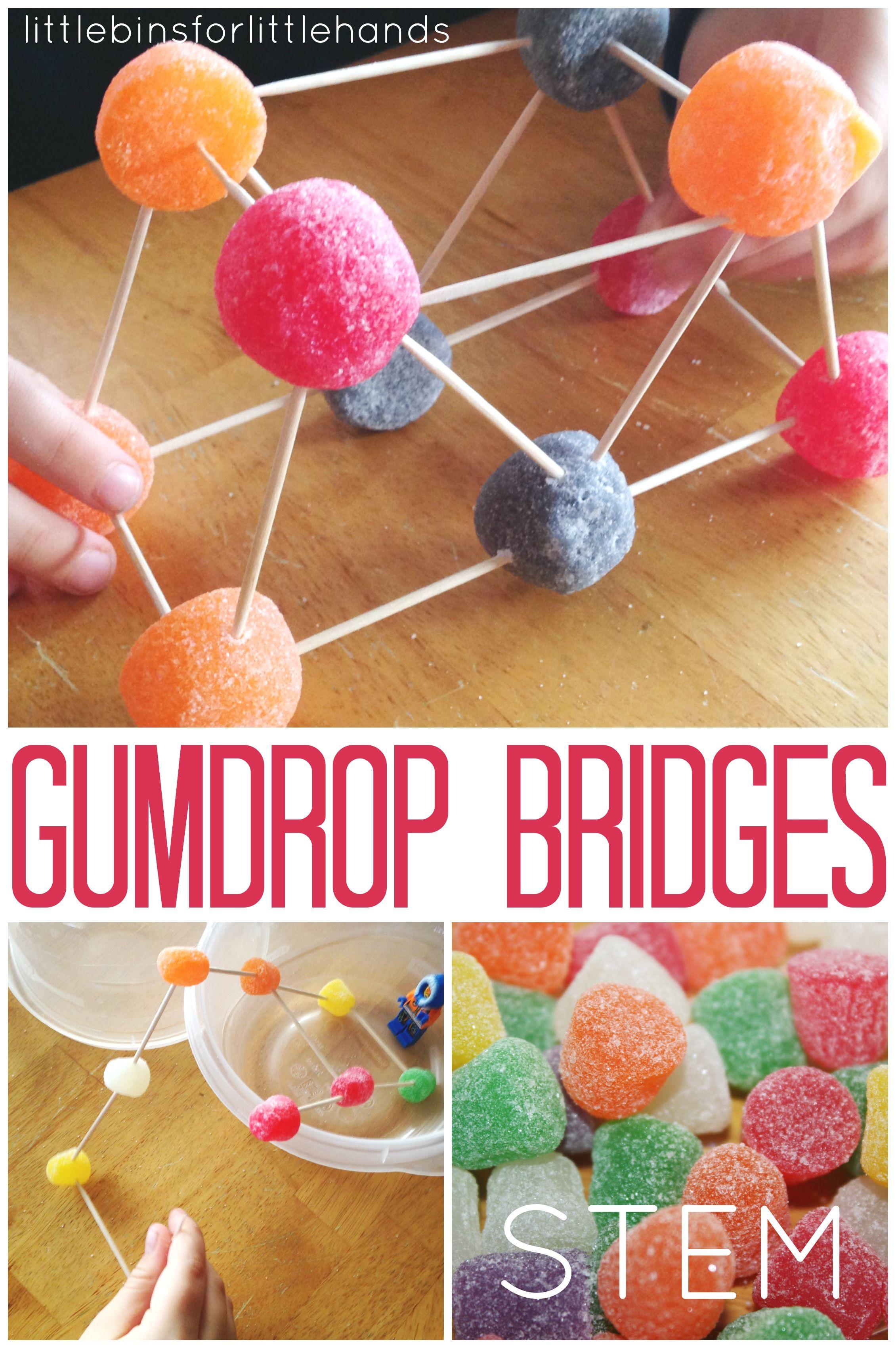 Gumdrop bridge stem challenge stem engineering