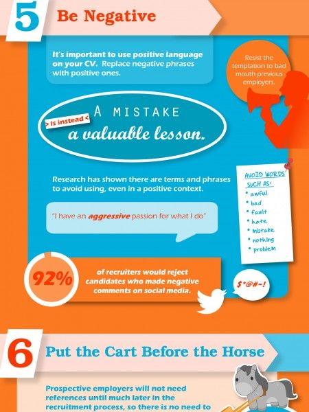 ten things not to put on your cv infographic cv pinterest cv
