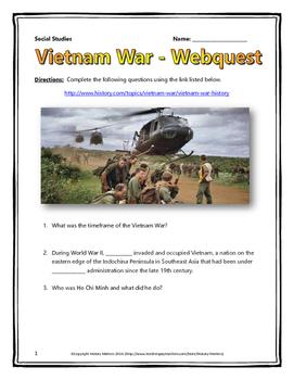 Vietnam War Webquest With Key History Com Cold Military The Essay