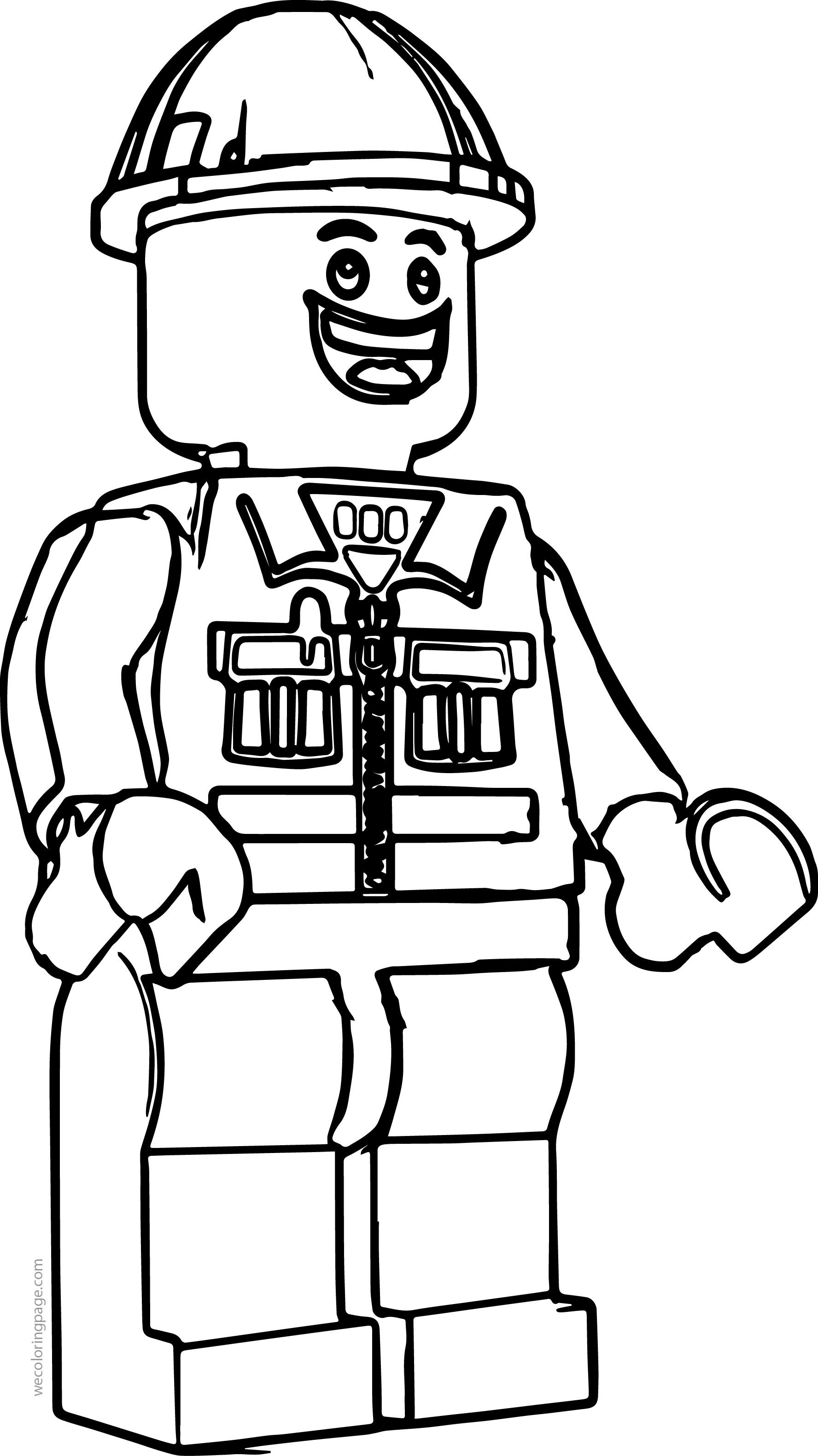 Lego Construction Worker Coloring Page | wecoloringpage | Pinterest ...