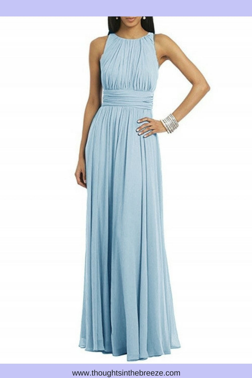 Women\'s Sleeveless Solid Pleated Long Prom Dress. Looking for an ...