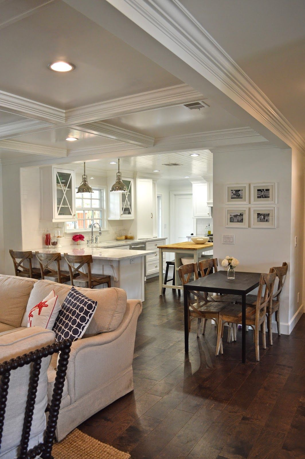 LOVE THIS The Cape Cod Ranch Renovation Great Room Entry