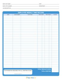Free Printable Time Sheets Project Daily Payroll  Weekly
