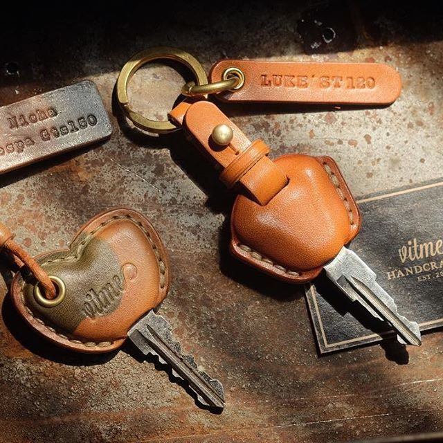 Vespa Leather Keyring Automobilia Vehicle Parts & Accessories