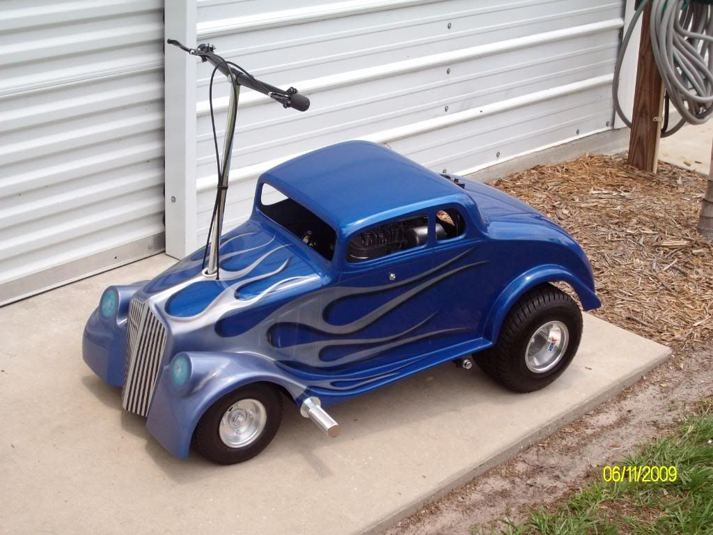 ford ride on coupe go kart custom paint very sweet go. Black Bedroom Furniture Sets. Home Design Ideas