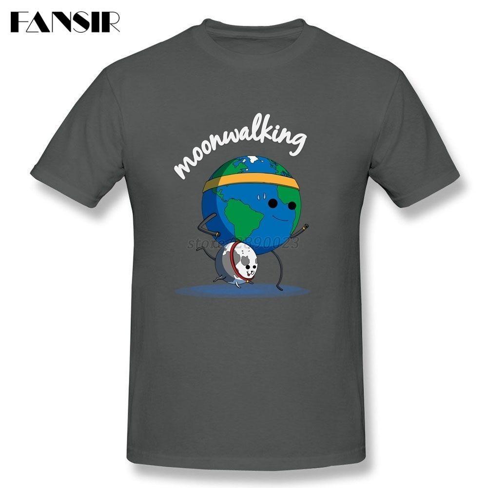 45ba6f75a2e27 Plain T-shirt Men Moonwalking Cartoon Men T-shirt Short Sleeve O Neck  Family Brand Clothing  Affiliate