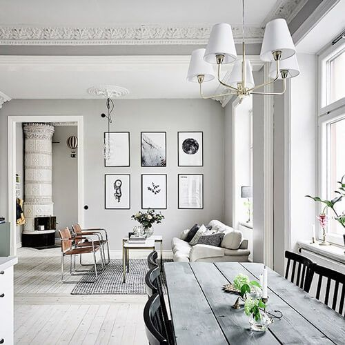 R Design Blog: Small 2 bedroom apartment in Scandinavian style.