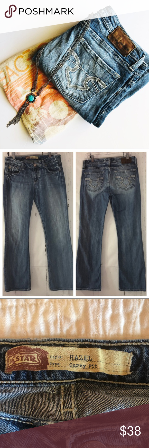 ab615cd4c24 BIG STAR | Hazel Curvy Fit Bootcut Jeans 30R Perfectly broken in and ready  to wear