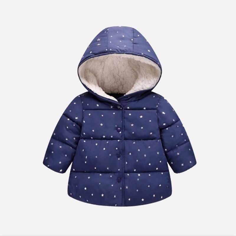 Children Toddler Boys Winter Warm Coats Jacket Zip Thick Snow Hoodie Outwear LW