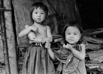 01 July 1979.  Coping with Disasters: Refugees and Displaced Persons in South-East Asia  Refugee children from Laos at the Ban Nam Yao Camp, Nan Province, Thailand.   Photo # 75167 UN Photo/John Isaac