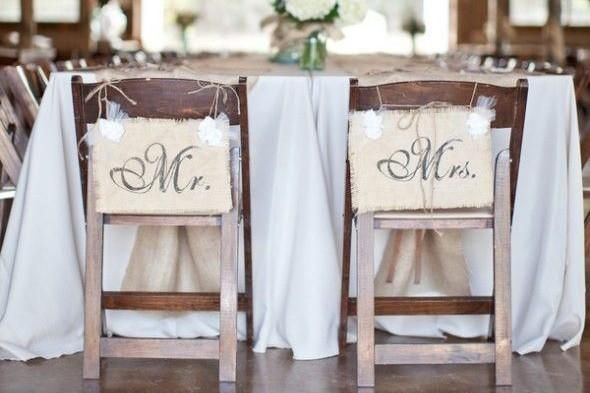 Rustic Burlap Signs Wedding Season Wouldnt Be Complete Without A Little Bit Of