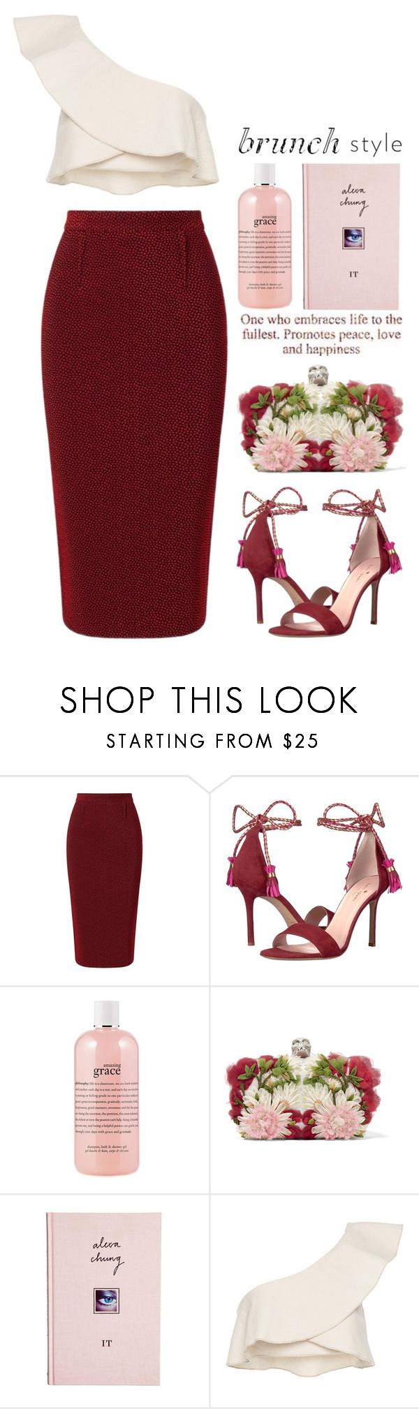 """""""Brunch Style"""" by mcheffer ❤ liked on Polyvore featuring Roland Mouret, Kate Spade, philosophy, Alexander McQueen, ASOS, Isabel Marant and brunchgoals"""