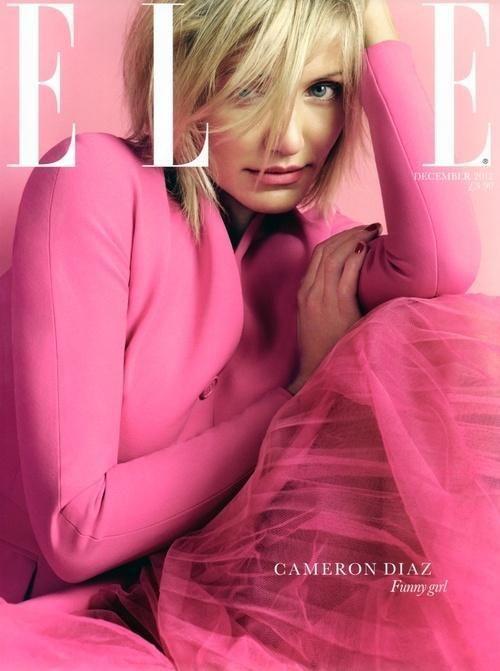 UK Elle December 2012 : Cameron Diaz by David Slijper_天天发呆 - 美丽鸟