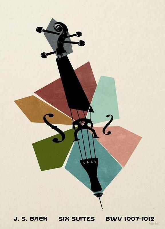 Bach - Cello Suites Poster   Music poster, Cello, Piano ...