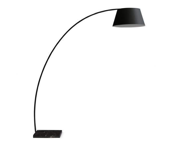 Superior Arc Floor Lamp   Black
